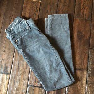 Gap always skinny gray corduroy pants. Gap1969.